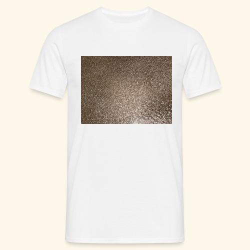 Gold Glitzer als Geschenkidee - Männer T-Shirt