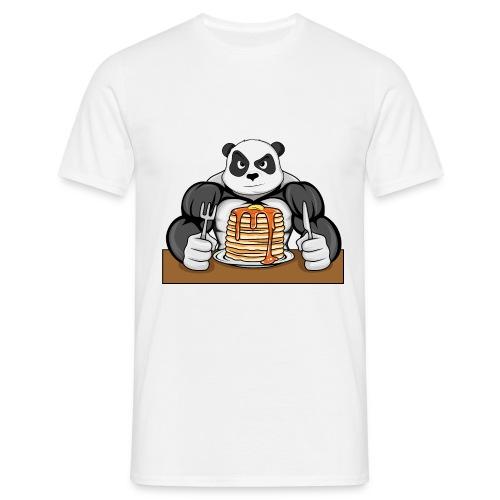 Fitness Panda eat Pancakes - Männer T-Shirt