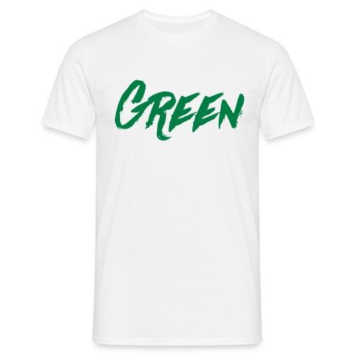 green-scritta-verde - Maglietta da uomo
