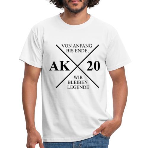 Von Anfang bis Ende, wir bleiben Legende - Männer T-Shirt