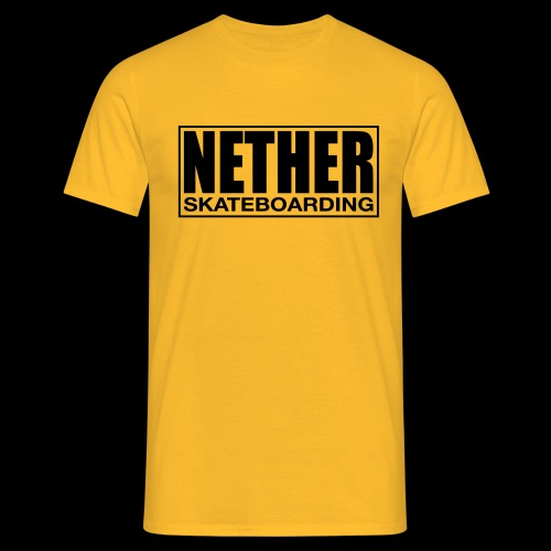 Nether Skateboarding T-shirt Black - Maglietta da uomo