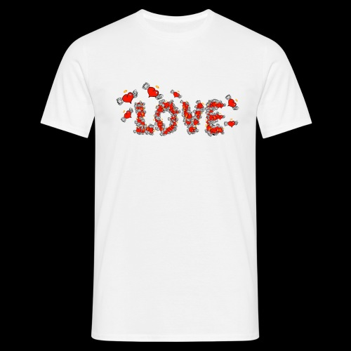 Flying Hearts LOVE - Herre-T-shirt