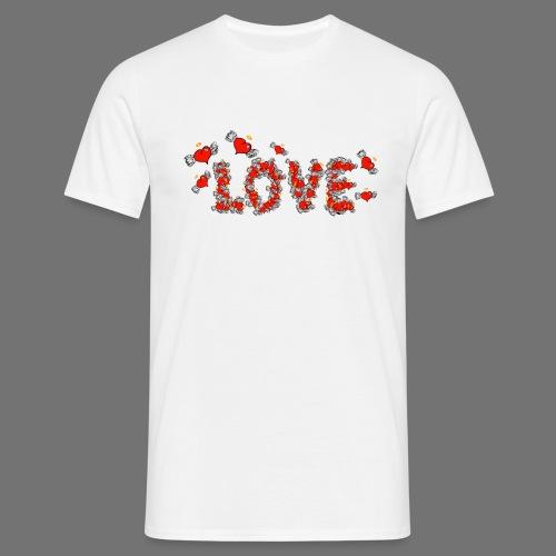 Coeurs d'amour de vol - T-shirt Homme