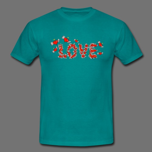 Flying Hearts LOVE - Men's T-Shirt
