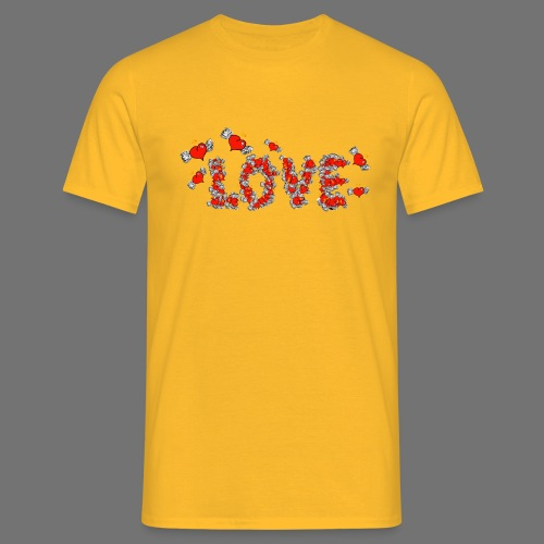 Flying Hearts LOVE - Men's T-Shirt