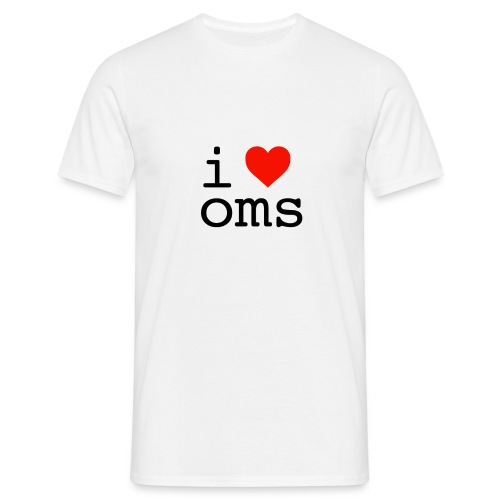 i love oms - Men's T-Shirt