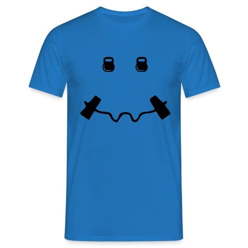 Happy dumb-bell - Mannen T-shirt
