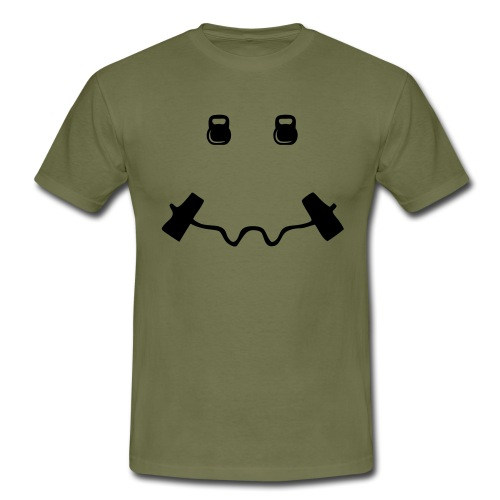 Happy dumb-bell - Mannen T-shirt