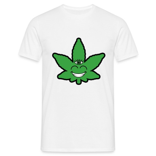 Weed Leave Eye - Mannen T-shirt