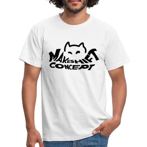 Makeshift Concept Logo Black - Männer T-Shirt