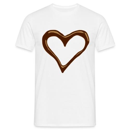 I love chocolate - Mannen T-shirt