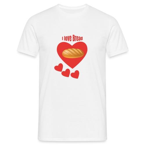 Amo il pane - Maglietta da uomo
