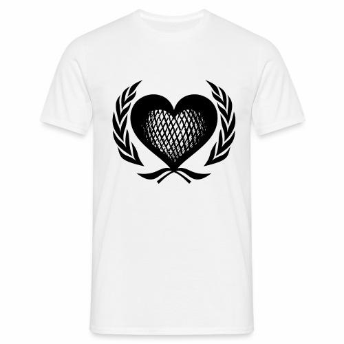 Herz Kranz Gitter Netz Logo Emblem Geschenkidee - Männer T-Shirt