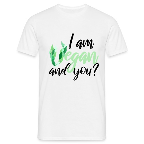 i am vegan and you - Herre-T-shirt