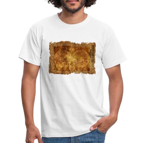 map of the world 2241469 1920 - Männer T-Shirt