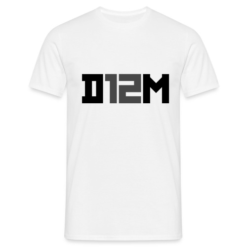 D12M: SHORT BLACK - Mannen T-shirt