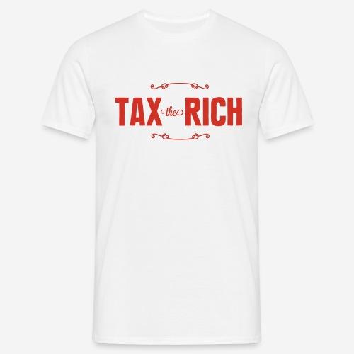 Tax the Rich, röd - T-shirt herr