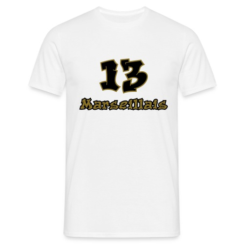 fier marseille blanc 03 - T-shirt Homme