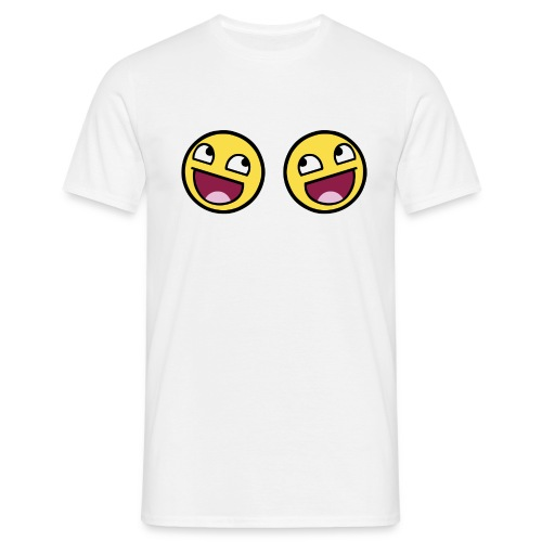 Boxers lolface 300 fixed gif - Men's T-Shirt