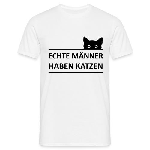 Vorschau: Echte Männer haben Katzen - Männer T-Shirt