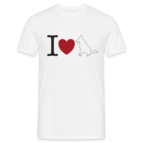 I LOVE White Dog - Koszulka męska