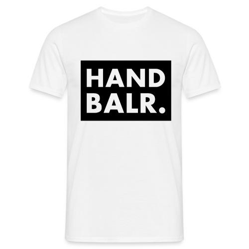 Handbalr Wit - Mannen T-shirt