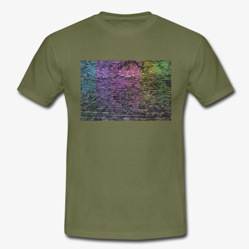 Regenbogenwand - Männer T-Shirt
