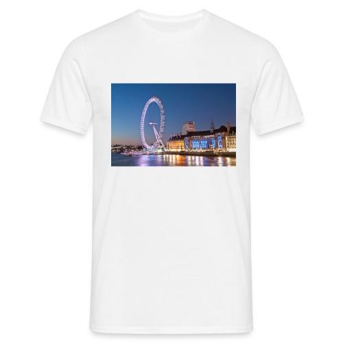 Trøje med biled af london på - Herre-T-shirt