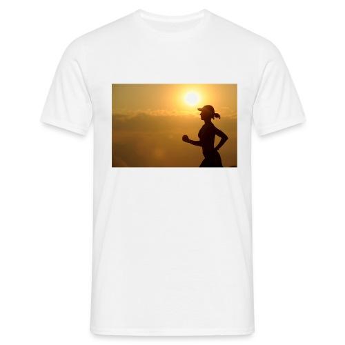 Sunset run - Männer T-Shirt