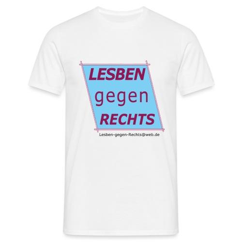 Lesben gegen Rechts - Männer T-Shirt