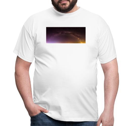 Milchstraße Panorama - Männer T-Shirt