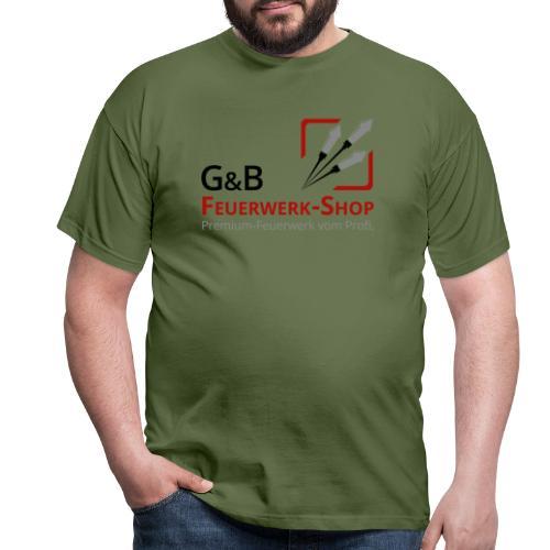 G & B Feuerwerk Shop Logo - Männer T-Shirt