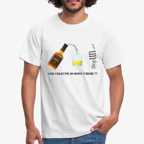 Un whisky ? Juste un doigt - T-shirt Homme