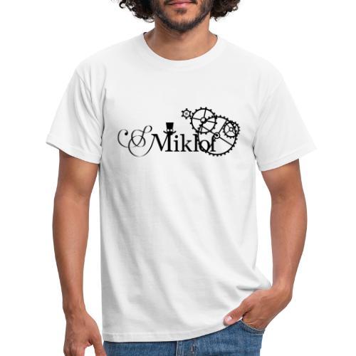 miklof logo black 3000px - Men's T-Shirt