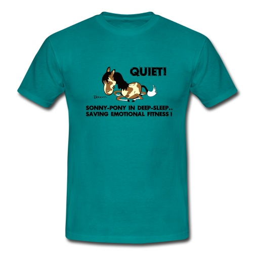QUIET Sonny Pony in deep sleep - Männer T-Shirt