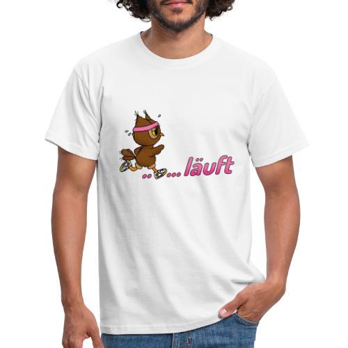Eule läuft - Männer T-Shirt