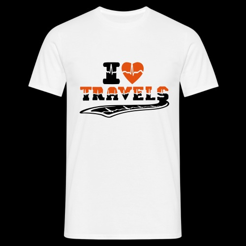 i love travels surprises 2 col - Men's T-Shirt