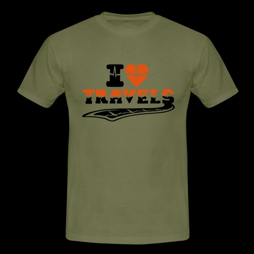 i love travels surprises 2 col - Men's T-Shirt