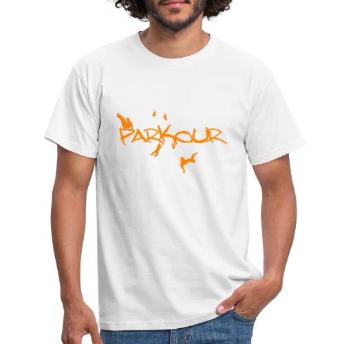 Parkour Orange - Herre-T-shirt