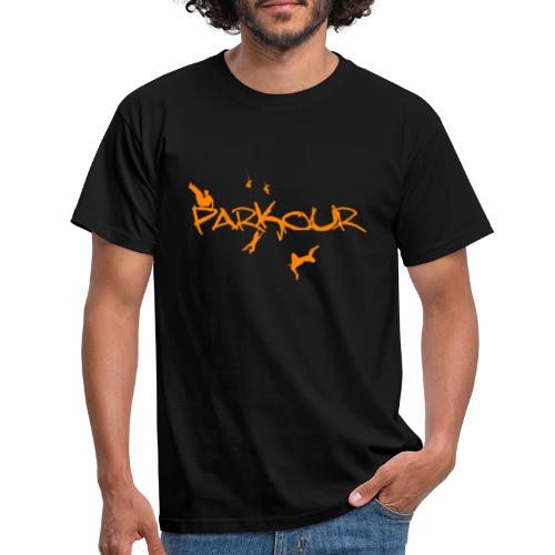 Parkour Orange - Herre-T-shirt