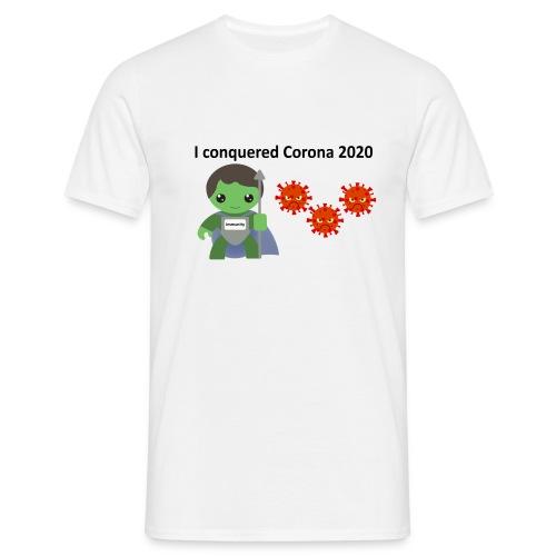 Conquered Corona - Herre-T-shirt