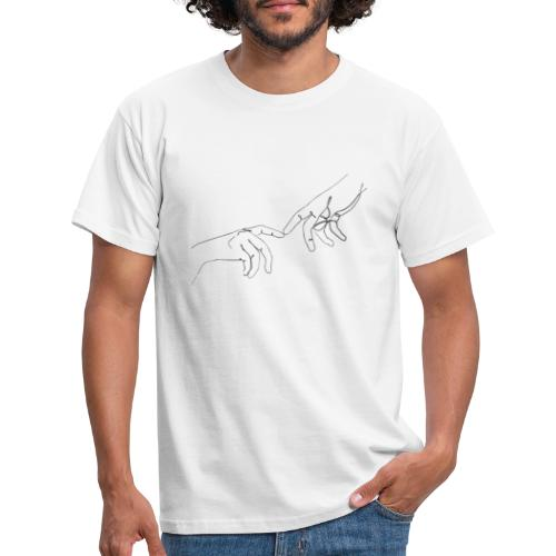 line art hands - Mannen T-shirt