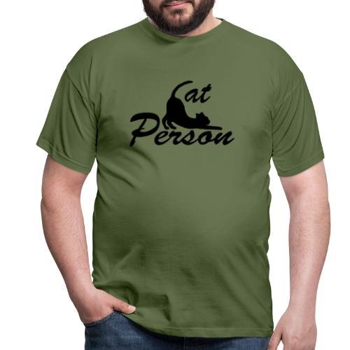 cat person - Männer T-Shirt