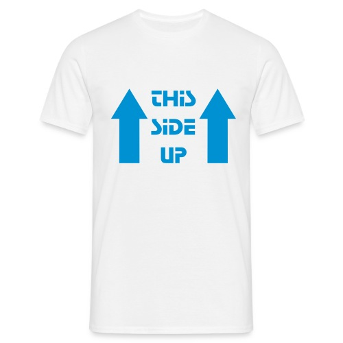 this side up - Mannen T-shirt