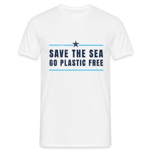 Defend the sea go plastic free Umweltschutz - Männer T-Shirt