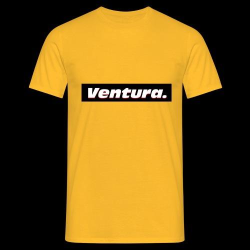 Ventura Black Logo - Mannen T-shirt