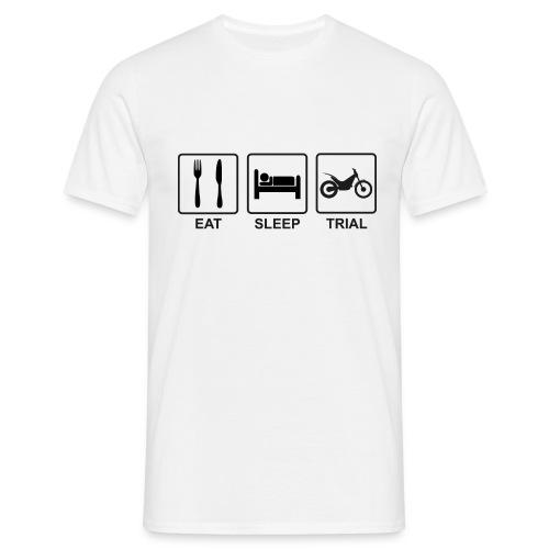 Eat Sleep Trial - Männer T-Shirt