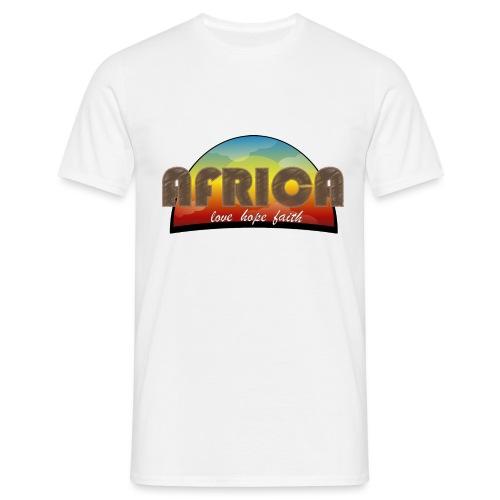 Africa_love_hope_and_faith2 - Maglietta da uomo