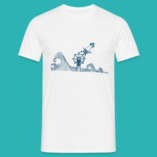 Carta_timone_blu-png - Maglietta da uomo