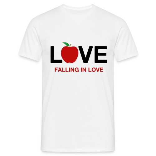 Falling in Love - Black - Men's T-Shirt